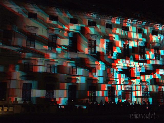 Nerdworking, E:merge – 3D videomapping na fasádě Michnova paláce v areálu Tyršova domu, Signal festival, Praha