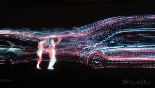 Andrej Boleslavský, Flow – interaktivní světelná projekce na zeď v Cihelné ulici na Malé Straně, Signal festival, Praha