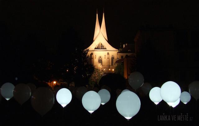 Maxime Houot & Nohista, Cyclique – zvukově-světelná instalace v Zítkových sadech, Signal festival, Praha